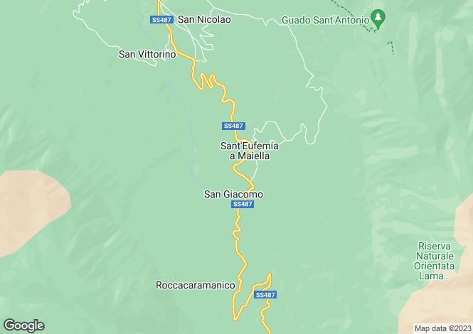 Map for Abruzzo, Pescara, Sant'Eufemia a Majella