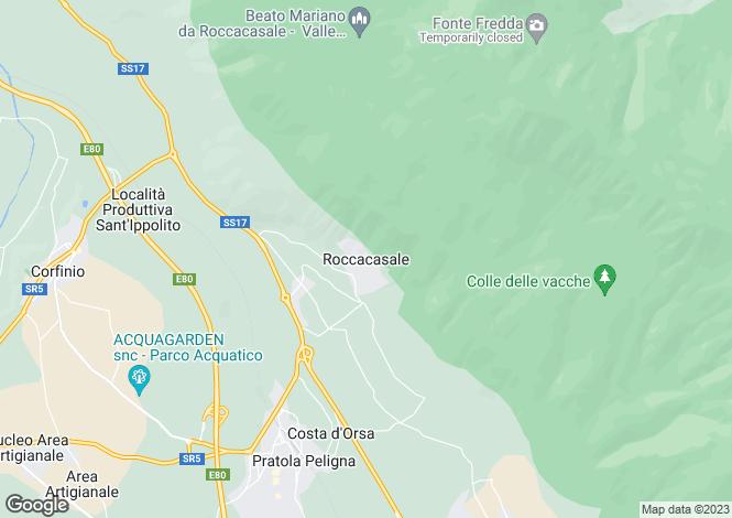 Map for Abruzzo, Laquila, Roccacasale
