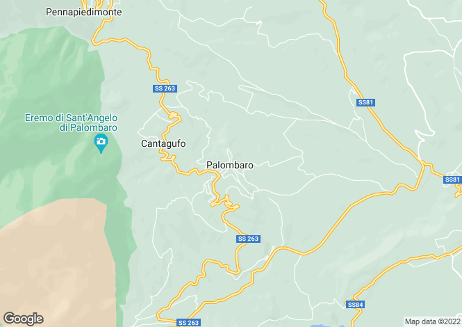 Map for Palombaro, Abruzzo, Italy