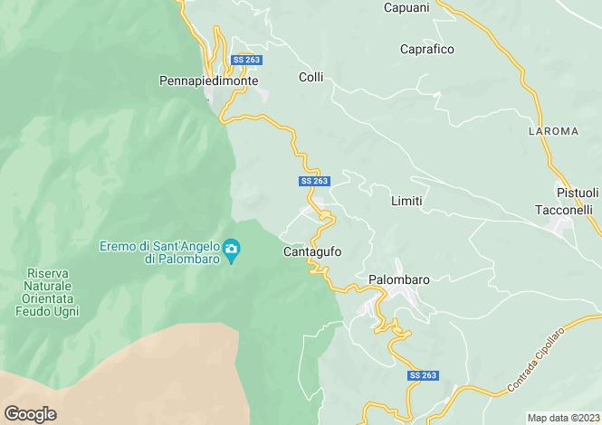 Map for Palombaro, Chieti, Abruzzo