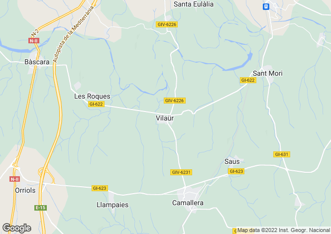 Map for Catalonia, Girona, L`Escala