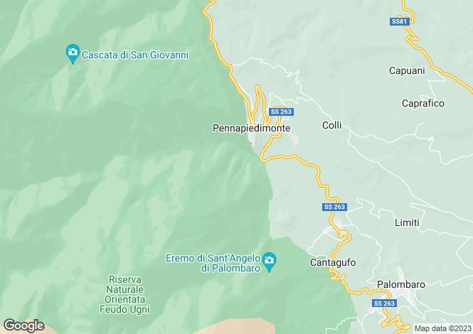 Map for Pennapiedimonte, Chieti, Abruzzo
