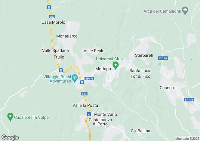 Map for Morlupo, Rome, Lazio