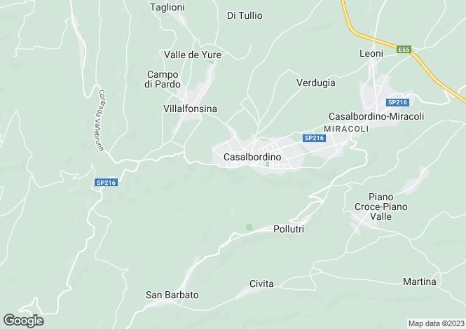 Map for Casalbordino, Chieti, Abruzzo