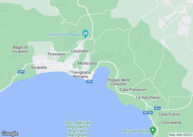 Map for Trevignano Romano, Rome, Lazio