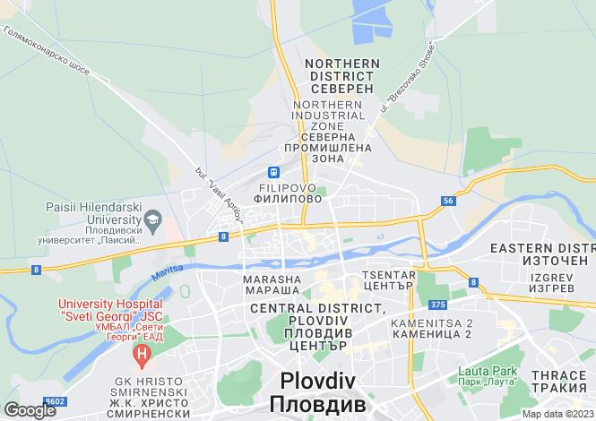 Map for Plovdiv, Plovdiv