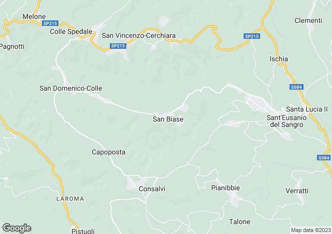 Map for Abruzzo, Chieti, Guardiagrele