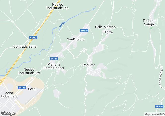 Map for Paglieta, Chieti, Abruzzo