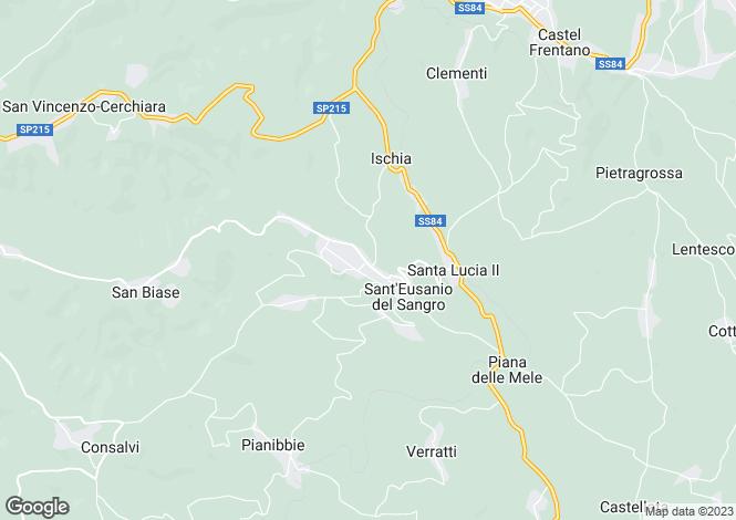 Map for Sant'eusanio Del Sangro, Abruzzo, Italy