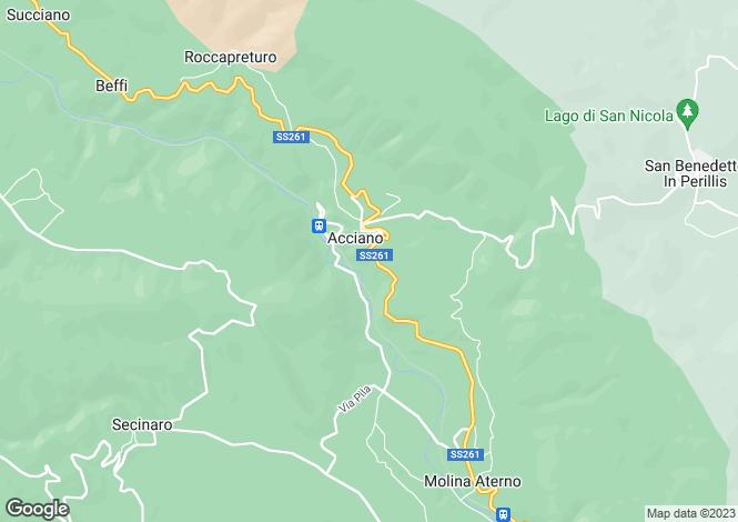 Map for Abruzzo, Laquila, Acciano