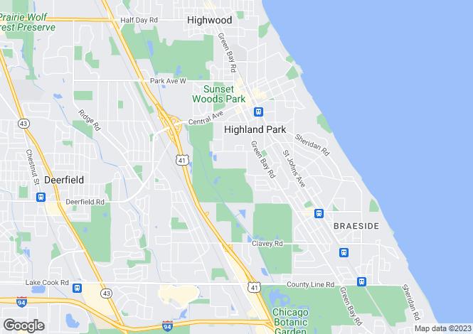 Map for USA - Michigan, Wayne County, Highland Park