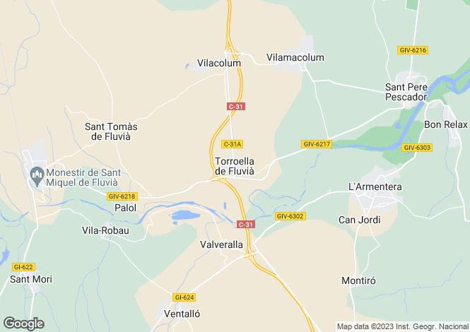 Map for Catalonia, Girona, Llofriu