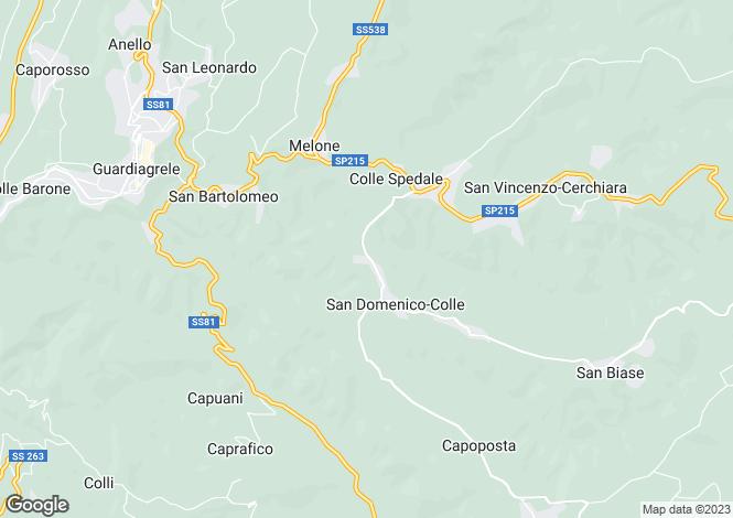 Map for Guardiagrele, Chieti, Abruzzo