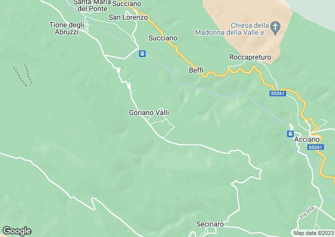 Map for Abruzzo, L`Aquila, Goriano Valli