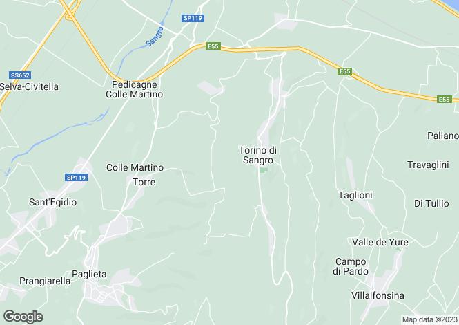 Map for Torino di Sangro, Chieti, Abruzzo