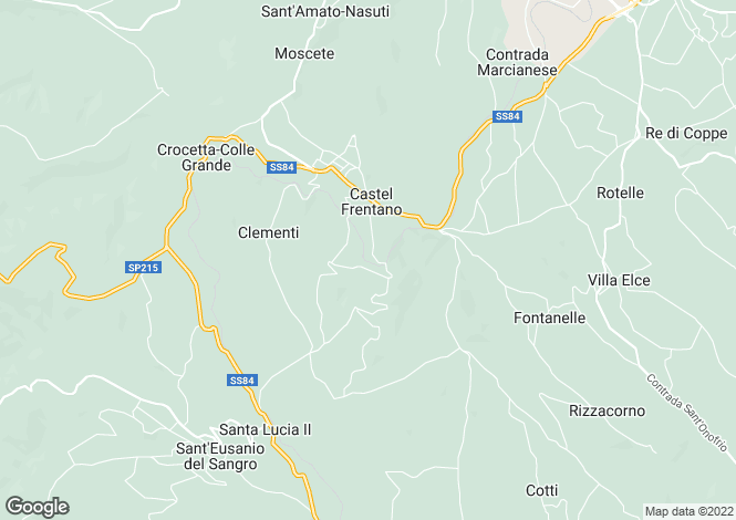 Map for Abruzzo, Chieti, Castèl Frentano