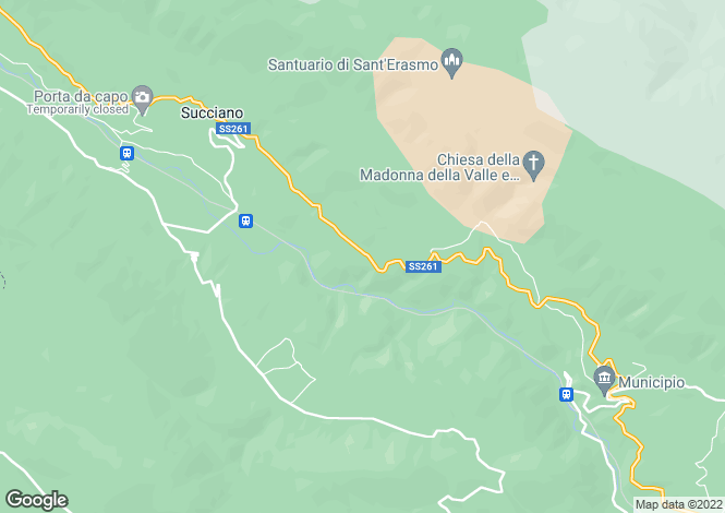 Map for Abruzzo, Laquila, Beffi