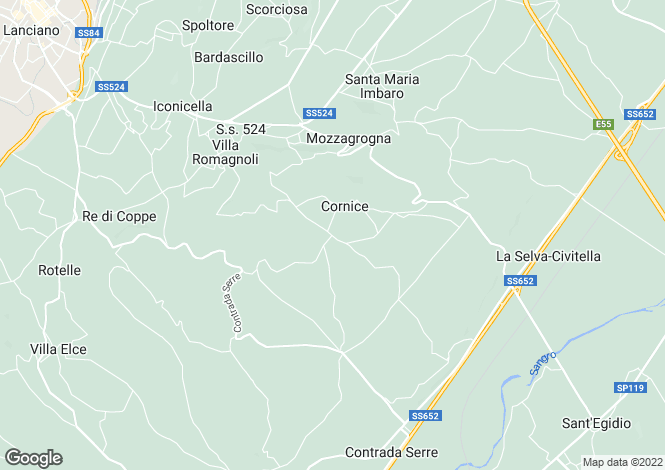 Map for Mozzagrona, Chieti, Abruzzo
