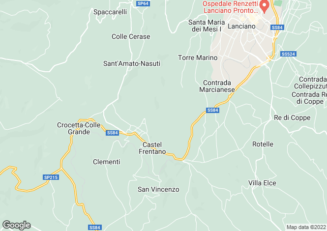 Map for Villalfonsina, Chieti, Abruzzo