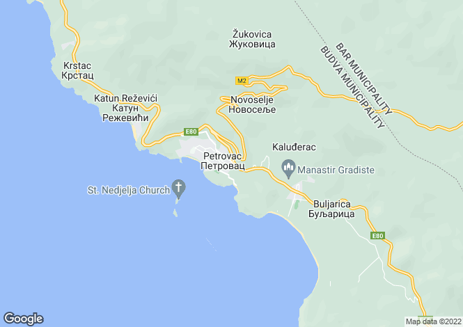 Map for Petrovac