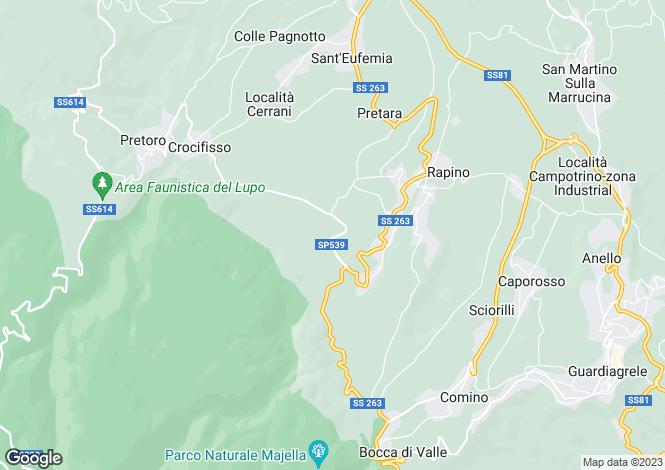 Map for Abruzzo, Chieti, Palmoli