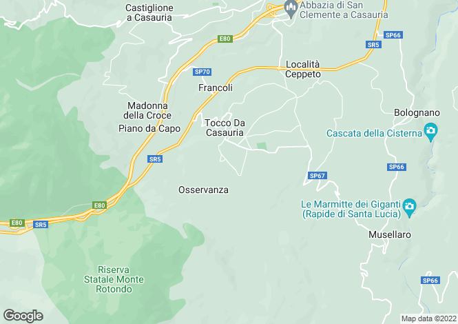 Map for Tocco da Casauria, Pescara, Abruzzo