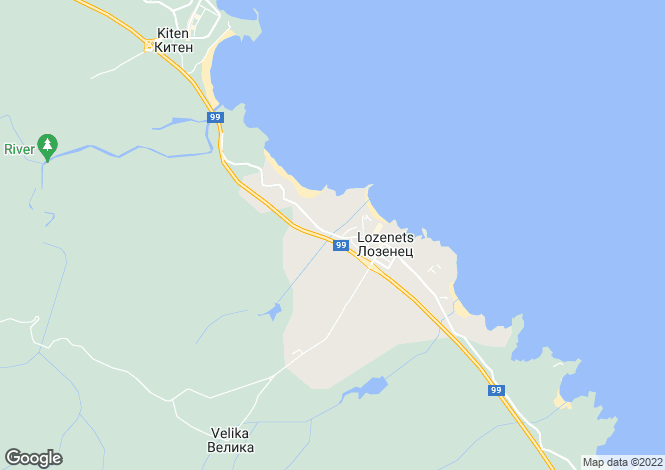 Map for Burgas, Lozenets