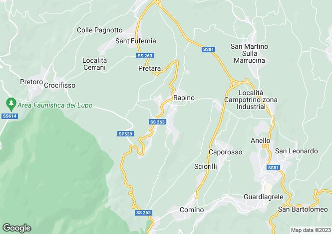 Map for Rapino, Chieti, Abruzzo