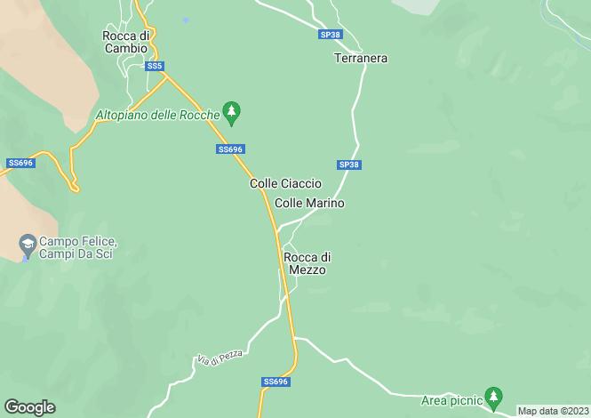 Map for Abruzzo, L`Aquila, Rocca di Mezzo