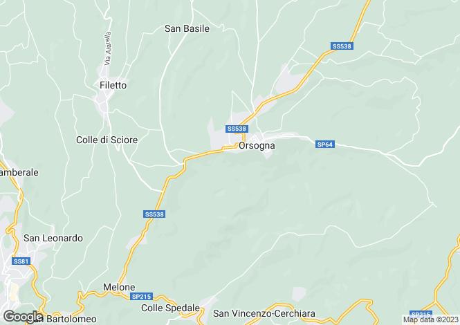 Map for Abruzzo, Chieti, Orsogna