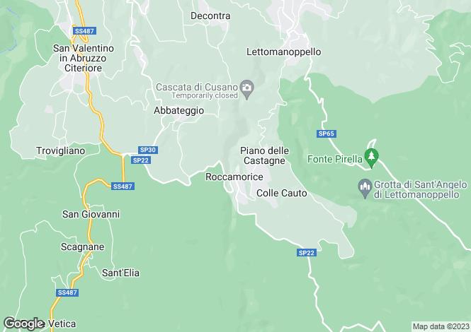 Map for Roccamorice, Pescara, Abruzzo
