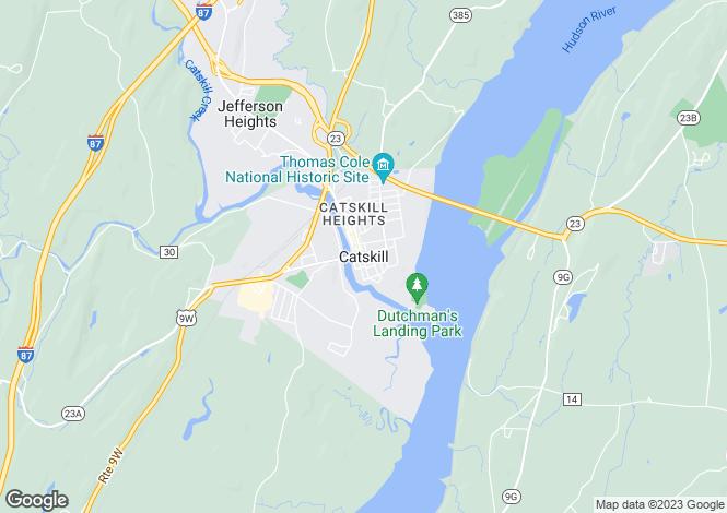 Map for New York, Greene County, Catskill