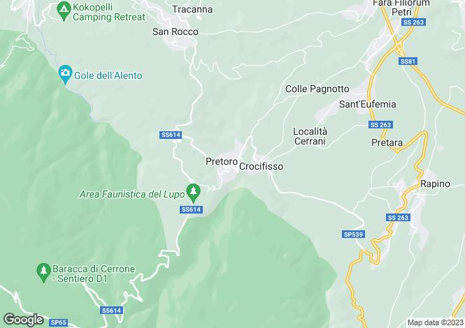 Map for Abruzzo, Chieti, Pretoro