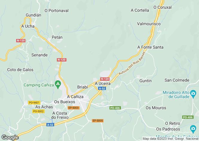 Map for A Cañiza, Pontevedra, Galicia