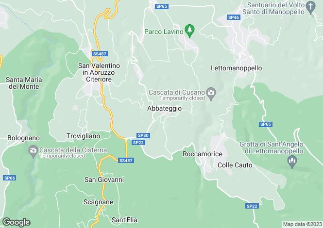 Map for Abruzzo, Pescara, Abbateggio