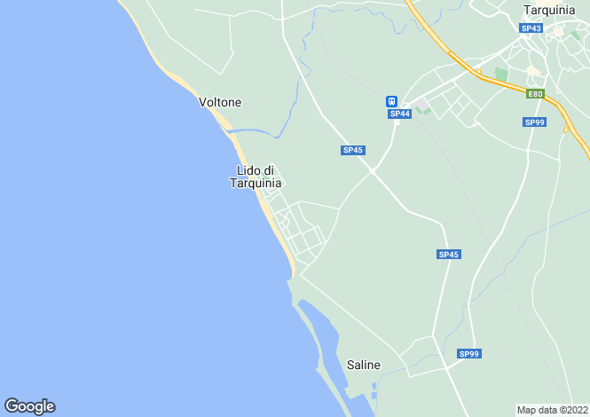 Map for Italy - Lazio, Viterbo, Tarquinia