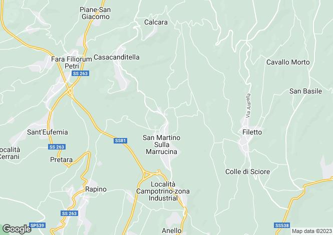 Map for Abruzzo, Chieti, San Martino sulla Marrucina