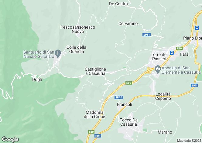 Map for Castiglione A Casauria, Pescara, Abruzzo