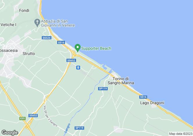 Map for Fossacesia, Chieti, Abruzzo