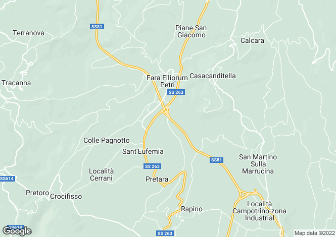 Map for Fara Filiorum Petri, Chieti, Abruzzo