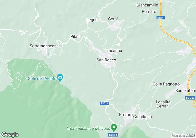 Map for Abruzzo, Chieti, Roccamontepiano