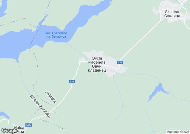 Map for Elhovo, Yambol