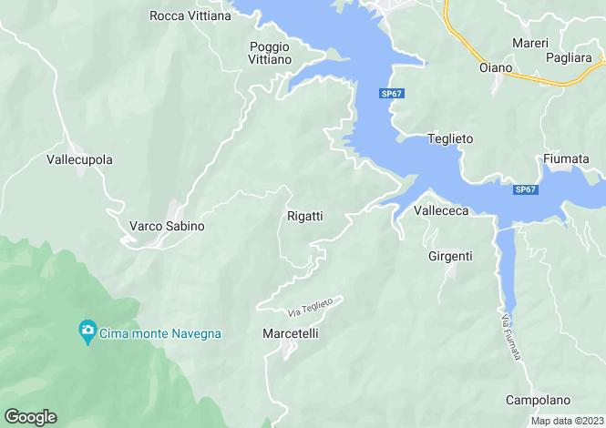 Map for Lazio, Rieti, Rieti