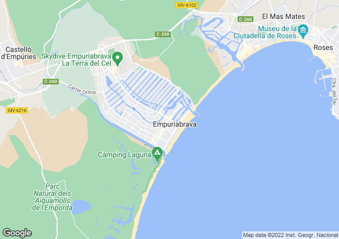 Map for Costa Brava, Empuriabrava, Empuriabrava Kanal