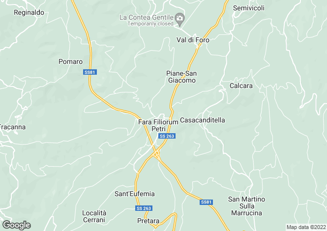 Map for Abruzzo, Chieti, Fara Filiorum Petri