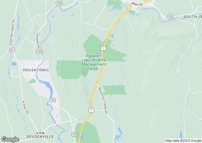 Map for USA - Massachusetts, Berkshire County, Great Barrington