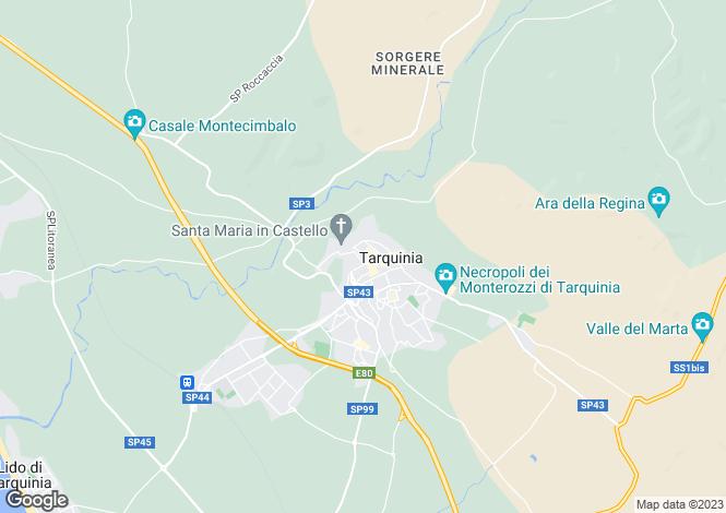 Map for Lazio, Viterbo, Tarquinia