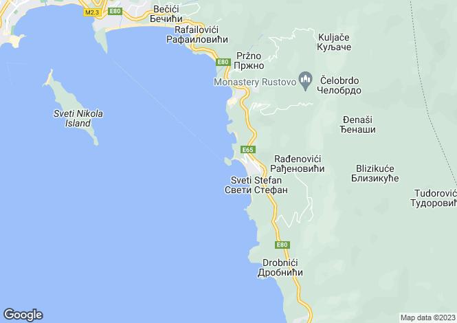 Map for Sveti Stefan