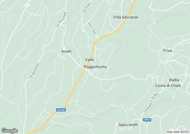 Map for Poggiofiorito, Chieti, Abruzzo