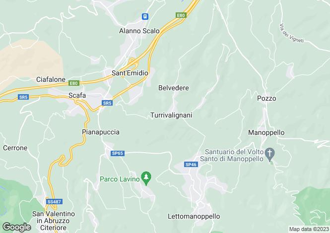 Map for Abruzzo, Pescara, Turrivalignani